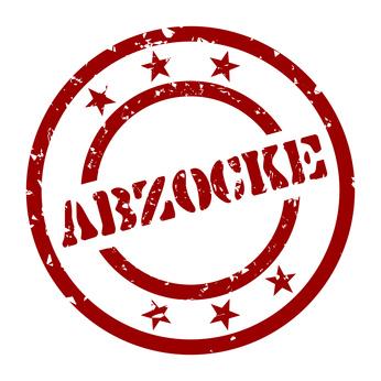 Stempel Abzocke.