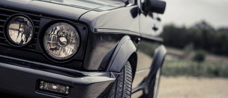 Detailansicht eines Autos.